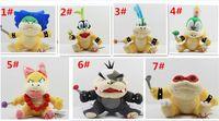 Wholesale 30pcs Cartoon Super Mario plush toys Wendy Larry Lemmy Ludwing O Koopa Plush Sanei quot Stuffed Figure Super Mario Game Koopalings Dolll D408