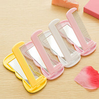 Wholesale Womens Lovely Cartoon Compact Mirrors Small Folding Portable Mirrors Cosmetic Makeup Mirrors YT0285 salebags