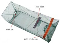 Equipo de pesca de venta caliente plegado Nylon herramientas de la red de pesca Cangrejo de pescado Crawdad Camarón Minnow Trampa de cebo de pesca Cast Dip Drift Shrimping Net Cage
