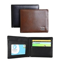 Wholesale Hot Sales Mens Wallet Credit Card Holder Bag Purse Black Synthetic Leather Fashion EK18