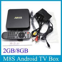 Wholesale M8S Android TV Box Quad Core Amlogic S812 G RAM G ROM TV Box G G Dual Wifi Bluetooth KODI OTH113