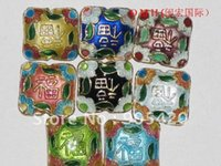 Wholesale OMH Chinese characteristics mixed The cloisonne spacer beads x15mm ZL71