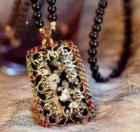 Wholesale Opal color shell long paragraph sweater chain Korea Korean decorative accessories vintage pendant necklace pendant