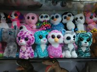 big bear doll - 10pcs Ty Beanie Boos Plush Toys Dolls TY Big Eye Animals Bear Rabbit Penguin Soft Stuffed Toys Small Kids Plush Gifts