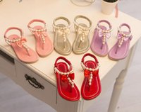 Wholesale Children s sadals new summer baby shoes first walkers pearl bowknot princess girls sandals kids toddler shoes