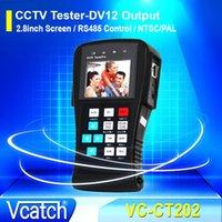 """VCatch probador del CCTV de 2.8 """"TFT LCD de salida de energía portátil de cámaras de seguridad de vídeo CCTV Tester Controlador Cable"""