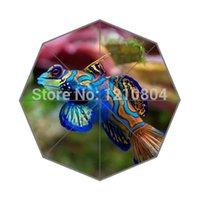 beautiful gift ideas - Beautiful Coral Fish Background Printed Triple Folding Rain Sun Umbrella Perfect as Christmas gift idea