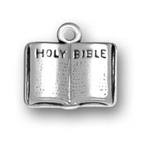 bible symbols - Fashion Smooth Holy Bible Book Charms Religious Symbol Pendant Silver Plated for Mother Women Jewelry