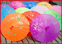 Wholesale 6pcs Wedding Parasols silk Parasol Sun Umbrellas Bridal Accessories Hand painted wedding silk Umbrella Chinese handicrafts