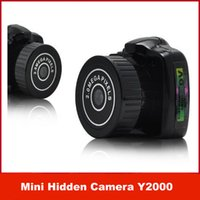Wholesale Y2000 Mini Camcorder with retail package the smallest Mini HD X480 Video Camera Mini DV HD Video Recorder Drop Shopping