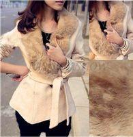 Wholesale Hot Sale Women s Wool Overcoat Fur Collar Short Woolen Irregular Tunic Coat Jacket b7 CB029448