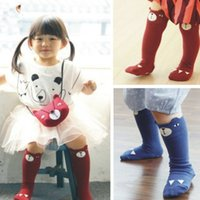 knee pads for kids - Designer Baby Leg Warmers Cartoon Bear Baby Knee Pads Tights Girl Leggings Cotton Knee Socks For Kids Infantil Leg Warmers Boy