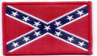 Wholesale The cheapest price stars and stripes Confederate flag Label it clothes patch x5cm stick badge accessories