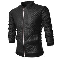 pelle pelle jackets - Fall Fashion Pu Mens Quilted Leather Jacket Men Motorcycle Urban Outerwear Luxury Skin Jackets Autumn Coats Black Brown Pelle Pelle