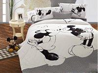 kids cartoon bedding set - 2016 Top Queen Size Mickey Mouse Bedding Minnie Mouse Bedding Sets Mickey and Minnie Bedding Duvet Comforter Cover Sets for Kids