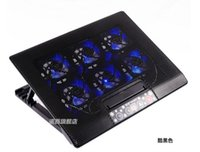 Wholesale 6 Fan Laptop Cooler Laptop Cooling Rack Computer Fan Base Cooling Pad Laptop Stand Notebook Cooler with Led Display