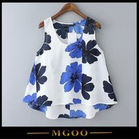 china clothes - MGOO Cheap Clothes China High Fashion Fitness Women Tank Tops Flowers print Sleeveless Cropped Vintage Tops