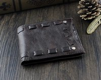 Wholesale Brown Genuine Vintage Italy Leather Bifold Money Wallet Purse Mens Gift