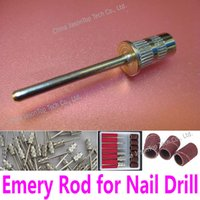 abrasive accessories - mm Emery Rod Electric Nail Drill Shank for mm Sanding Bands Bore Drum Diameter Manicure Pedicure Tool Accessory Abrasive