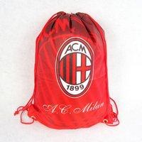 Wholesale Football fans supplies souvenirs Champions League serie a team AC Milan football shoes bag backpack bag