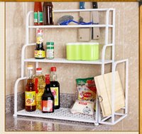 Wholesale Kitchen shelf layer receive console spice rack hanging tool post multilayer shelf in spice rack cutting boards