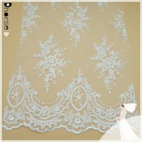dress factory - 2015 Guanghozu factory african white bridal cord lace fabric embroidery guipure lace fabric for dresses DH BF380