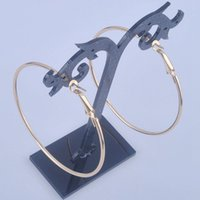 Wholesale pair Stylish Nickel Free diameter mm Big Hoop Earrings Women Gold Plated Fashion Jewelry Gift