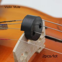 Wholesale 2pcs Violin Fiddle Mute Silencer Circular Round Rubber Light weight Black Violin Parts Accessories