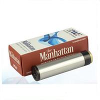 Meilleur 1: 1 Clone Manhattan Mod Noir SS Red Copper Manhattan Mod avec 510 fils de haute qualité 18650 Full Mechanical Mod DHL Free