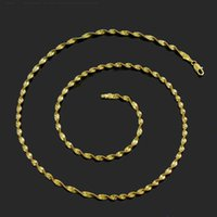 Wholesale Exclusive original design Cool Men Women K gold necklace gold plated chain string Passepartout ultra stylish