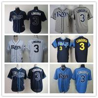 baseball rays - Rays Baseball Jerseys Men LONGORIA white Grey black baby Black Blue Jerseys stitched Top quality Mix Order Free Fast Shipping