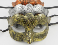 Wholesale Men Half Face Masquerade Masks Party Masquerade Masks Masquerade Masks For Man PVC Mask