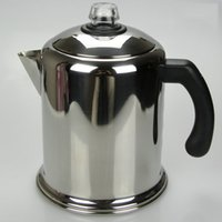 american stoves - 4 cups Stainless American Manual Coffee Maker Stove Top Percolator With Handle Lid