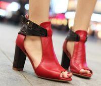 Wholesale genuine leather high heel platform sandals fashion women sexy shoes R233 hot sale EUR size