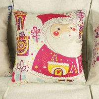 Wholesale 1pc Christmas Theme Throw Sofa Pillow Case Decorative Cushion Cover Patterns order lt no tracking