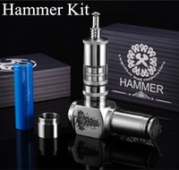 Cheap Wholesale-Electronic Cigarette Hammer Kits With ICS30S Taifun GT Rebuildable Atomizer Vape RDA 510 Drip Clearomizers Mechanical Mod 8153
