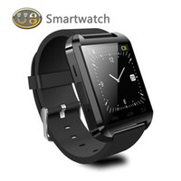 Wholesale NEW U8 Smart Watch Bluetooth Wearable Watch Waterproof Smartwatches For iPhone6 S Samsung S4 S5 Note HTC LG Android SmartPhone In Gift Box