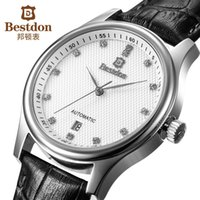 affordable automatic watch - Bestdon affordable luxury brand men leather strap watch self wind automatic mechanical watches best designer wristwatch