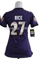 authentic ray rice jersey - Factory Outlet Ray Rice Women Jersey Purple New Stitched Authentic Football Jerseys Embroidery Logo Lady Jersey