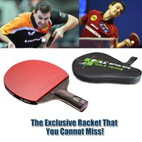 brand tennis racket - 1x Brand quality Carbon Fiber Table tennis racket Blade with double face Pimples in Racket rubber bat Timo Boll NANO V with bag
