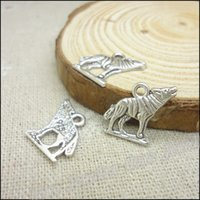 wolf jewelry - Antique silver Charms Wolf Pendant Fit Bracelets Necklace DIY Metal Jewelry Making
