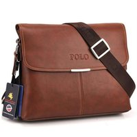 Wholesale Horizontal size HOT SOLD men messenger bag fashion genuine leather PU male shoulder bag casual briefcase brand name
