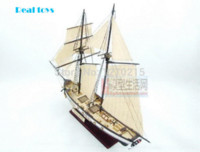 Wholesale Assembly Model kits Classical wooden sailing boat model HARVEY1847 scale wooden model boat chest