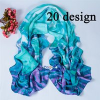silk twill scarf - Emulation silk twill silk scarf Printed Plaid scarves fashion women long shawl scarf cm cm designs