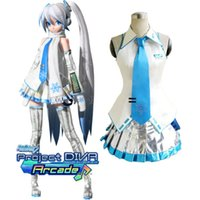 diva - Vocaloid Project Diva Snow Miku Cosplay Uniform Dress Women Girl s Halloween Costumes Custom made
