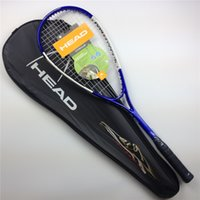 squash racket - New arrival HEAD Squash racket top seller aluminum carbon one piece squash racquet with string strung and cover bag head squash