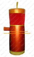 Wholesale Likable Red Firecracker Mascot Costume Mascotte Fire Cracker With Yellow Lid Brown Stripes Skin Adult No