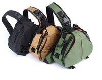 Wholesale New DSLR SLR Digital Sling Camera Case Shoulder Bag Backpack For NikonCanon CA03