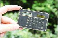 Wholesale 1Pcs Mini Slim Credit Card Solar Power Pocket Calculator
