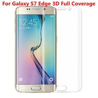 Wholesale Full Coverage Clear TPU Screen Protector Film Cover Curved with Retail Package for Samsung Galaxy S7 Edge S6 edge Note Not Tempered Glass